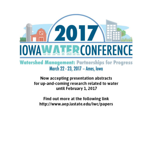 Current Research track now open for the 2017 Iowa Water Conference